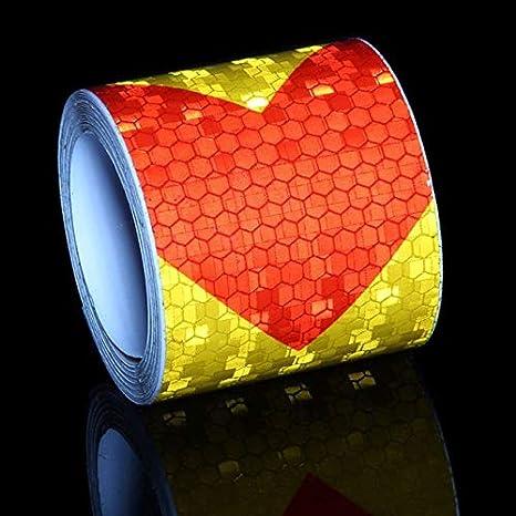 JULXYX Cinta Reflectante 3M Cinta Reflectante Fluorescente ...