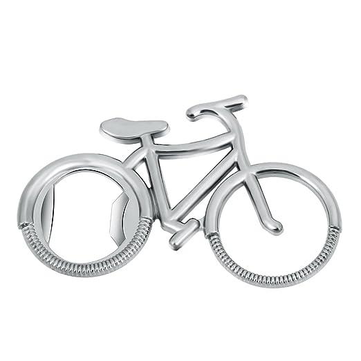 whitelotous Creative bicicleta de acero inoxidable abridor de ...