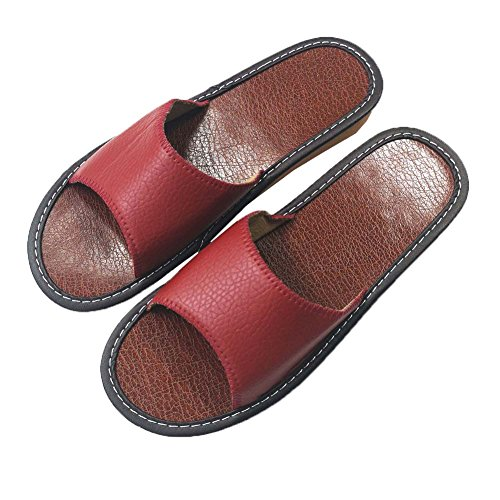 Women Silent Men HRFEER Women Beach Sandals Indoor Wine Red Linen House Slippers Summer Shoes Slipper RtwXEXq