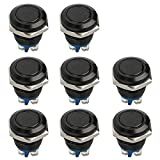 FICBOX 8pcs 16mm 5/8' Push Button Switch Metal Momentary Stainless Waterproof Start Button Switches for Car RV Truck Boat