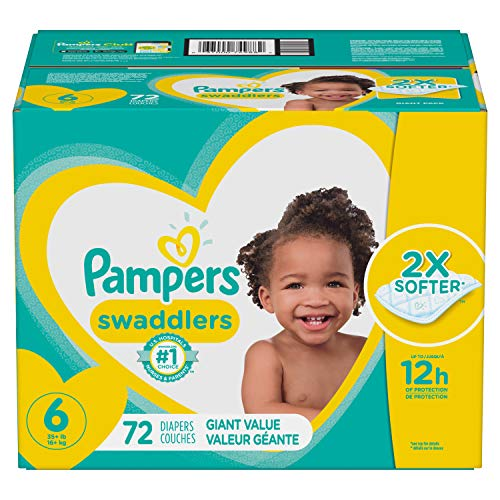 Diapers Size 6 72 Count Pampers Swaddlers Disposable Baby Diapers Giant Pack