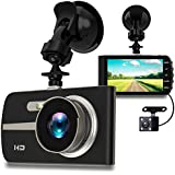 VicSpot Dash Cam 1080P HD, 4.0 IPS Screen Dual Dashboard Cameras Front and Rear Car Driving Video Recorder Built In G-Sensor, Motion Detection, Loop Recorder,Night Vision,HDR