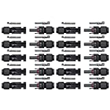 Sun YOBA 10 Pairs of MC4 Male/ Female Safety Seal Ring Waterproof Solar Panel Cable Connectors