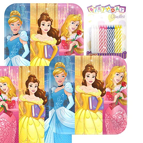 (Lobyn Value Pack Princess Dream Big Party Plates and Napkins Serves 16 with Birthday Candles)