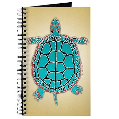 Fetish Turtle - CafePress Turtle in Turquoise Spiral Bound Journal Notebook, Personal Diary, Lined