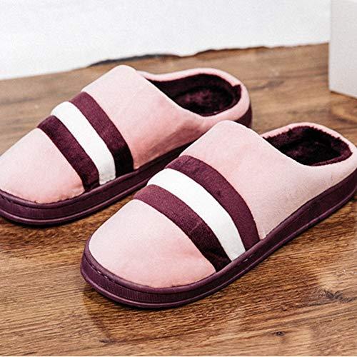 Pink 38 Colori In Cotone Caldo Interni Pattini Coppia Al Tre Ciabatte Libero Il 41 Dimensioni colore Per Resta Scarpe Green Confortevole Caramelle Pantofole Gomma Tempo Tingting pqg7In4w