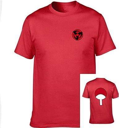 TSHIMEN Camisetas Hombre Champion Naruto Camiseta Hombre/Mujer/niños japón Anime FUUNY Camisetas Camiseta Superior (1pcs) XS Rojo: Amazon.es: Ropa y accesorios