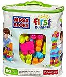 Mega Bloks First Builders Big Building Bag, 60-Piece (Trendy)