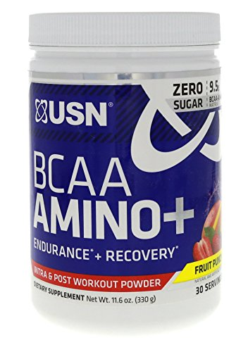 USN BCAA Amino + Fruit Punch for Stimulant Free Muscle, Training and Endurance Boosts 30 Servings