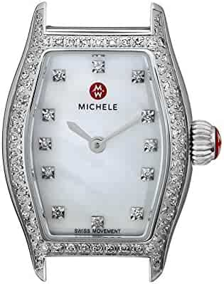 MICHELE Women's MW08A01A1046 Urban Coquette Diamond-Accented Stainless Steel Watch Head