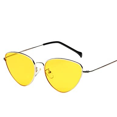 BOBOLover Mujeres Hombres Verano Vintage Retro Cat Eye Gafas ...