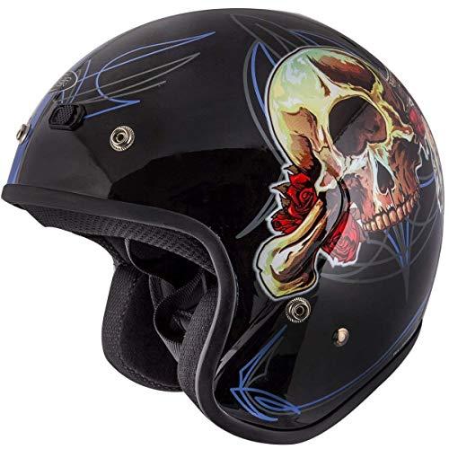 Cyber Helmets U6# 4 Limited Edition 'Grateful Dead' Skull Vintage Open Face Helmet - Small ()
