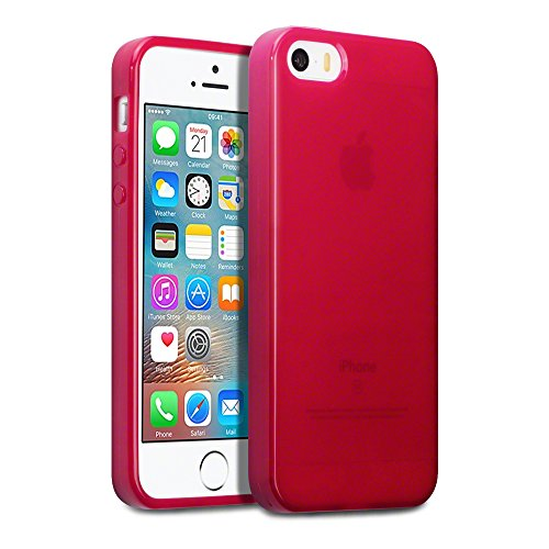 Coque iPhone SE, Terrapin Étui Coque en Gel TPU pour iPhone SE Étui - Rouge