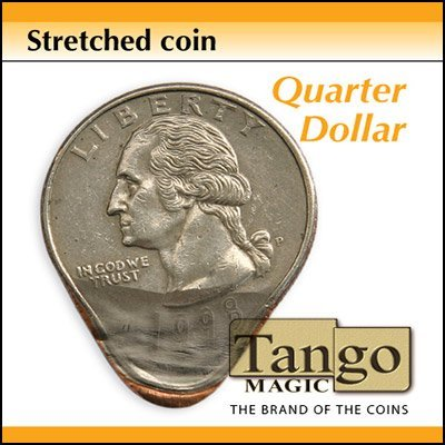 - Stretched Coin Quarter dollar by Tango - Trick by Tango Magic