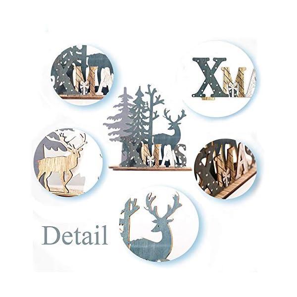 Anyingkai 2pcs Ornamenti Natalizi alci,Decorazioni da Tavolo in Legno di Alce,Legno di Alce Fai da Te Regali,Legno di Alce Ornamenti,Decorazione in Legno Renna Decorazione (Alce) 4 spesavip