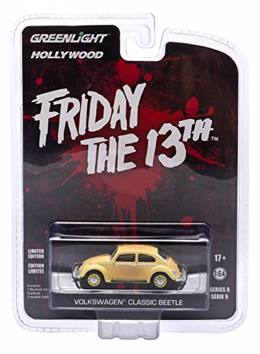 VOLKSWAGEN CLASSIC BEETLE from the 1982 horror film FRIDAY THE 13TH PART III * GL Hollywood Series 9 * 2015 Greenlight Collectibles Limited Edition 1:64 Scale Die Cast Vehicle (13th Green)