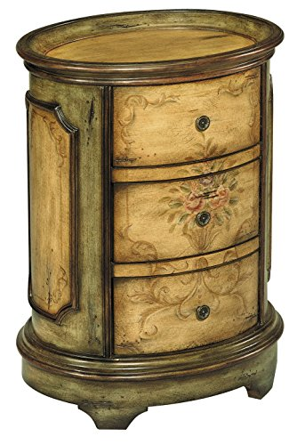 Stein World Furniture Dover Accent Table, Antique Green, Brown (World Stein Traditional Table)