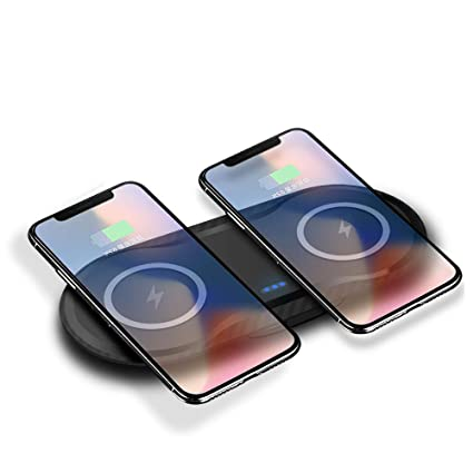 Amazon.com: 2 in 1 QI Wireless Charger for iPhone X XS Max ...