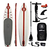 """BRIGHT BLUE 11'6"""" Inflatable Stand Up Paddle Board (6"""" Thick) with Pump, Paddle, Fin"""