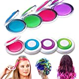 LuckyFine 4 Colors Temporary Hair Chalk DIY Hair Styling Easy Color Easy Wash Hair Dye Powder