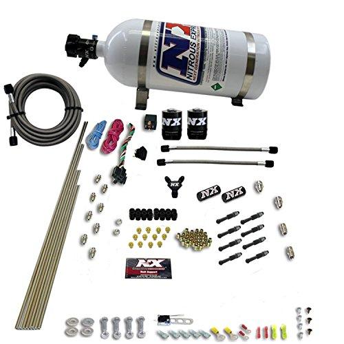Nitrous Express 93006-10 8 Cylinder Dry Direct Port Nitrous System 4 Solenoids 100-600 HP w/10 lb. Bottle 8 Cylinder Dry Direct Port Nitrous System