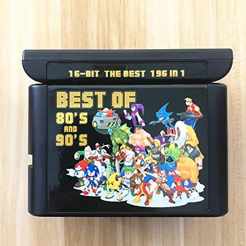 196 in 1 Sega Genesis Mega Drive 16 Bit Multi Cartridge - La