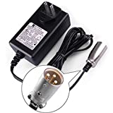 LotFancy 24V 1.5A Scooter Battery Charger, for Schwinn S150 S180 S200 S250 S300 S350 S400 S500 S650 F-18 X-CEL, eZip 4.0 400 500 750 900 Trailz S-500CD, Go-Go Elite Traveller Ultra X SC40X SC44X