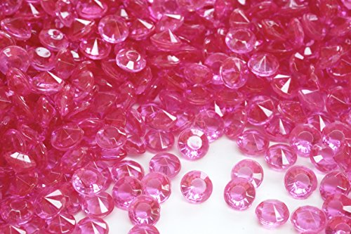 2000 Pcs 4.5mm 1/3ct Hot Pink Fuchsia Wedding Party Diamond Confetti Table Scatters Decoration Good Crafted DIY Ideas