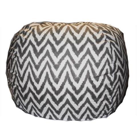 Mybeanbag Chair Giant - Chevron, Charcoal My Beanbag