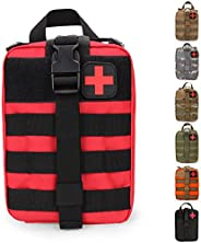 HX OUTDOORS Tactical MOLLE Rip-Away EMT Medical First Aid IFAK Lifesaving Pouch,Outdoor Medical Package,Mounta