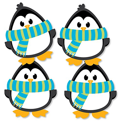 - Holly Jolly Penguin - Penguin Decorations DIY Holiday & Christmas Party Essentials - Set of 20