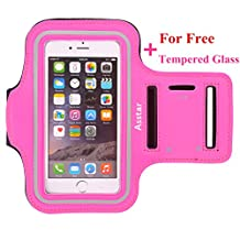Armband, Asstar [Stand Feature] Premium Running Water Resistant Sports Armband and Fits iPhone 6, 6S,SE, 5, 5S, 5C, Samsung S4, S3, S2, HTC ect with FREE TemperedGlass (Rose)
