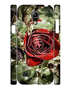 Protective Case Especially For Galaxy S4 Mini I9195, Attractive Red Rose Pattern Nature Series Back Case for Samsung Galaxy S4 Mini I9195