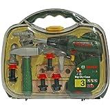 Theo Klein 8428 - Bosch Maletin De Herramientas Bosch Con Atornillador Acumuladores Y Numerosos Accesorios