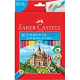 Ecolápis de cor sextavado 36 cores Faber Castell