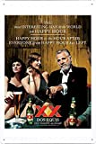 Tin Sign Metal Poster Plate (8'x12') of Dos Equis Beer: Most interesting man in the world by Food & Beverage Decor Sign