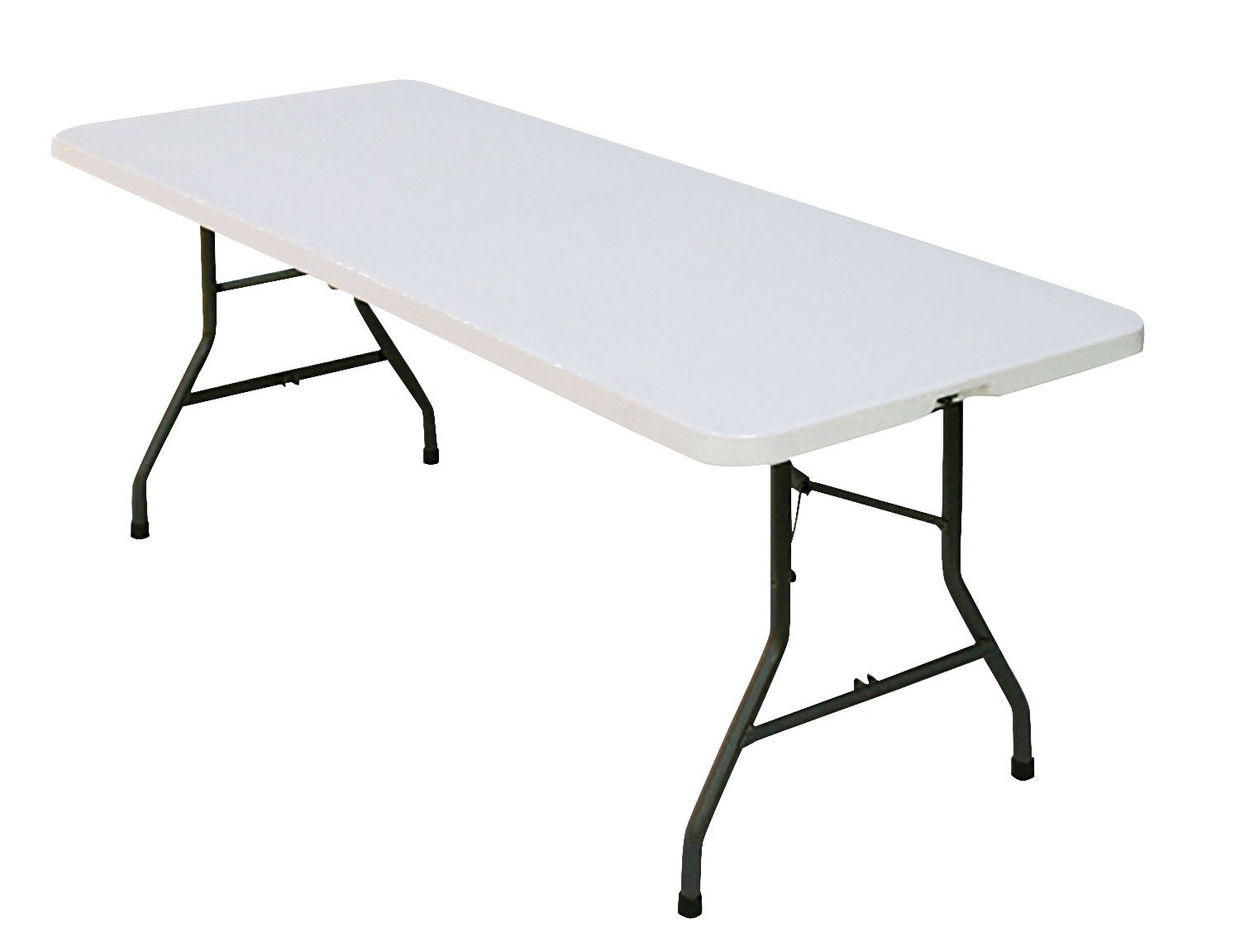 Correll CP3072FM Light Weight Blow Molded Fold in Half Table, For Easy Transportation, Rectangular, 30''x72'', Gray Granite