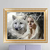 MEXUD-DIY Stitch Craft Needlework with Wolf Beauty Diamond Embroidery Diamond Painting for Home Decor