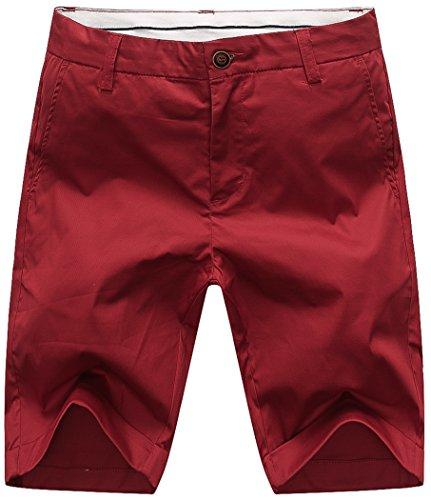 Mocotono Mens Twill Cargo Shorts Slim Fit Short Pants