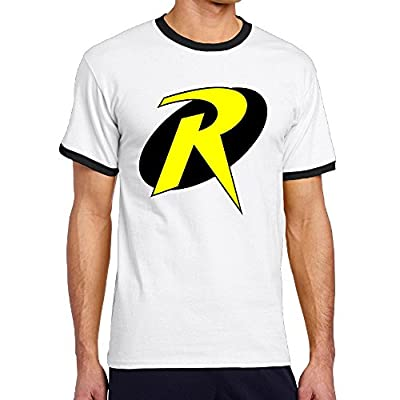 Custom Men's Two-toned Funny R Logo Tshirt Black