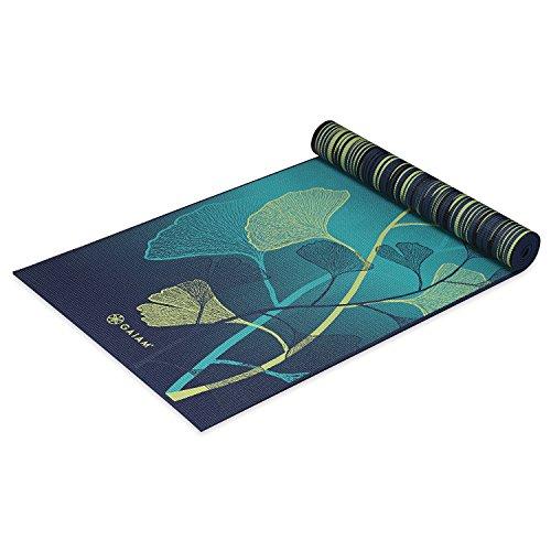 Gaiam Premium Print Reversible Yoga Mat, Sheer Vibe, 5/6mm