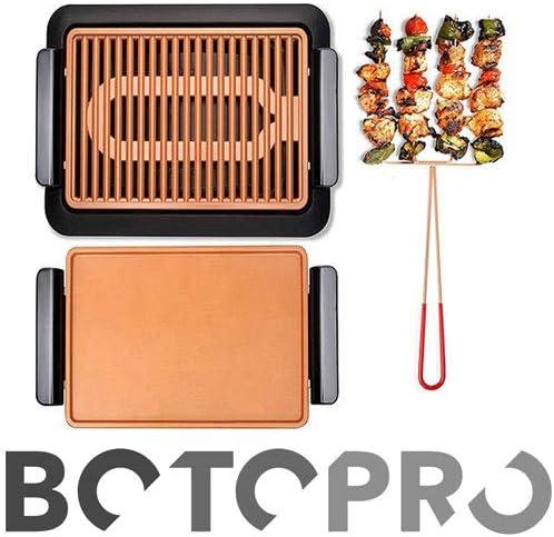 BOTOPRO - Parrilla Smokeless Grill + Plancha Gratis, Cocina y Asa ...
