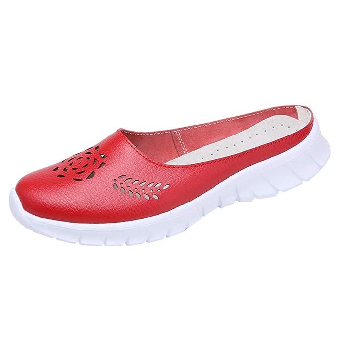 LILICAT✈✈ Sandalias Roma Zapatos Sandalia con Pulsera para Mujer Zapatillas de Deporte con Orificios de Fondo con Huecos y Fondo Suave Sandalias de Verano ...
