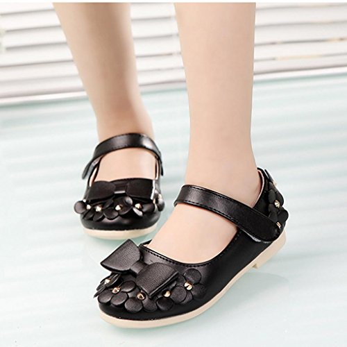Hunpta Lässig Kinder Frühling Blumen Mädchen Kinder Mode weichen Sandalen Schuhe Sneakers Schwarz