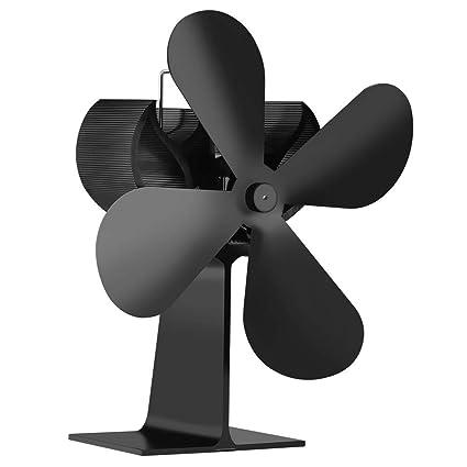 HLDUYIN Estufa Chimenea Ventilador Accesorios Silencioso Estufa De Leña Ventilador De Calor No Electricidad Registro Quemador