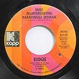 Budgie 45 RPM Nude Disintergrating Parachutist Woman / Crash Course