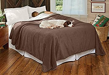 Superb Orvis Ultralight Dog Proof Fleece Coverlet / Only King, , King