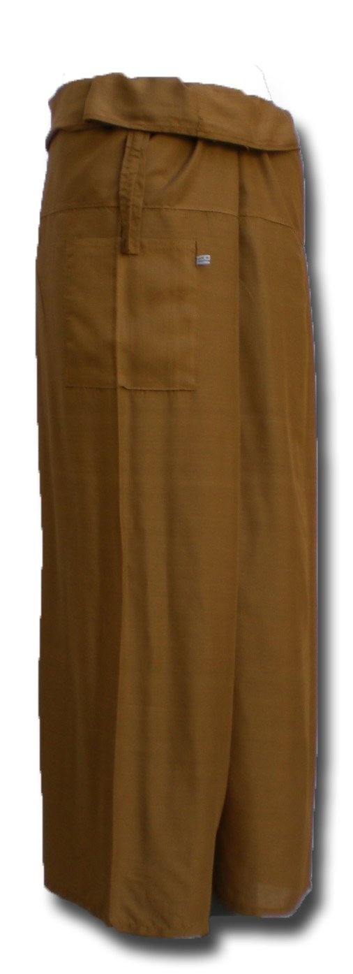 * Pantalones de Yoga Envoltura Deporte Tailandia Thai Largo Original from einfachklever Fisherpant Pescador Pantalones * Marr/ón