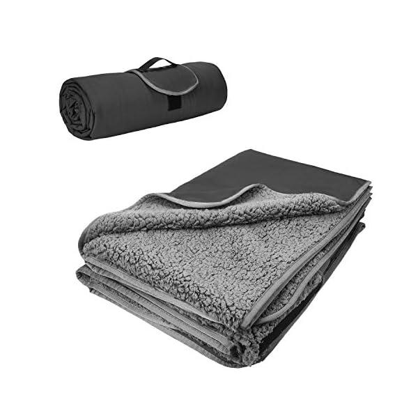 Kato Tirrinia Camping Decke wasserdichte, Outdoor Decke Hüttenschlafen Reisedecke Sanddichte Warm Picknickdecke Fleece…