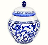 Ralph Lauren Mandarin Blue Porcelain Medium Ginger Jar Canister (9-in)